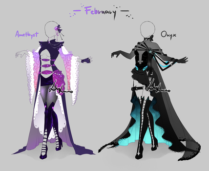 Outfit design-Birthstones -February - closed by LotusLumino