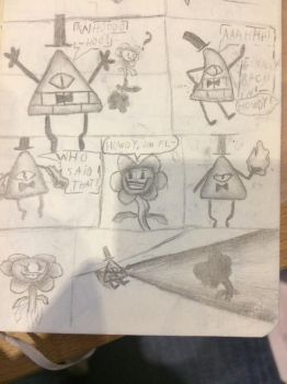 Bill cipher and Florey (sorry for the gramma) by M1ntGr33n
