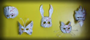 Papercraft Splicer Masks by Red-Flare