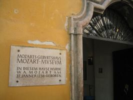 Mozart's Birth Place by rowanseymour