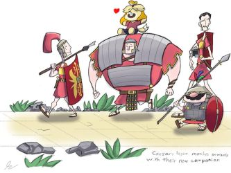Isabelle and Caesar's Legion by DerpyTots