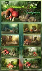 Enchanted Hill backgrounds by DIGI-3D