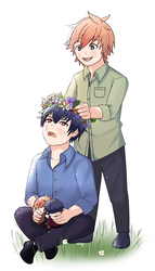 I made you a flower crown! by hasuki3010