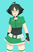 Buttercup FusionFall style by Kafei-Toytle