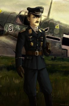 Adolf Galland by Doqida