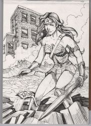 Wonder Woman Inktober by wayner8088