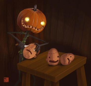Pumpkin carving by Sheharzad-Arshad