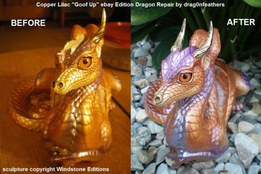 Windstone Editions Copper Lilac Lap Dragon Repair by drag0nfeathers