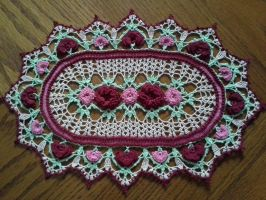 Rose Parade Doily by koepr5333