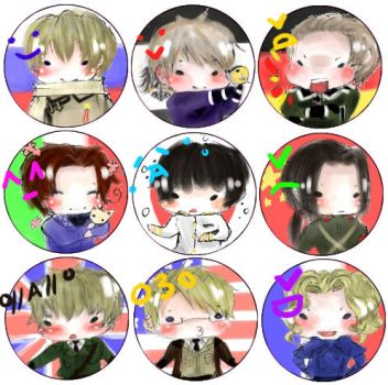 APH - Button Badges by satoru-13