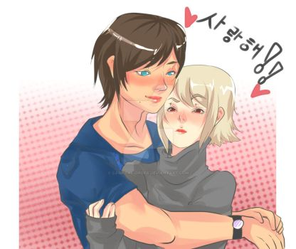 Emil And Dante Cuddle AU by Caim-The-Order