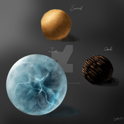 Material Studies - Sand, Wood and Ice by ladysofhousen