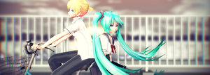 .:MMDxVocaloid: So happy together...:. by ReggieAndCheese