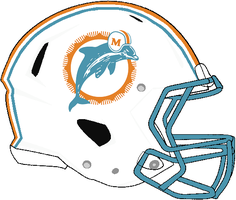 Revolution Speed Dolphins 1980-1989 Helmet by Chenglor55