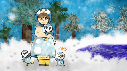 Human Piplup #393 (Has Speedpaint!) by TheDrawingMorgs