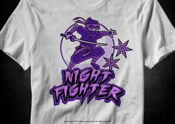 Night Fighter T-Shirt by TrexycaArtworks