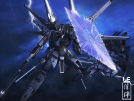 The Chase: Legend Gundam by sandrum