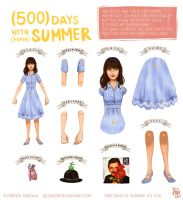 500 Days of Summer paper doll by flominowa