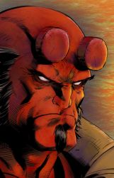 Hellboy colours by greenjaygraphic