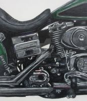 Motorbike Zoomed close up by Living-Life-Loud