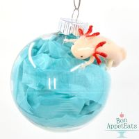 Axolotl Glass Ornament by Bon-AppetEats