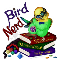 Bird Nerd - MERCH AVAILABLE! by Brushfeather