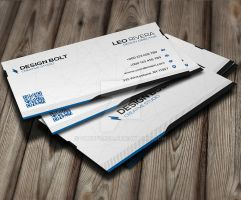 Bolt Modern Business Card by GreyFoxGR