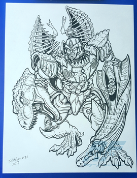 Best of Inktober 2017 - Furious by AlmightyRayzilla