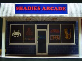 Shadies Arcade Storefront Diorama by MisterBill82