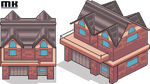 Tile isometric | Rustic house by MichaKing