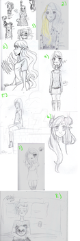 Old Sketch Dump by TacWithAPencil