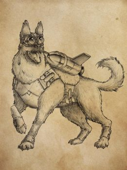 Steampunk dog by countersunk81