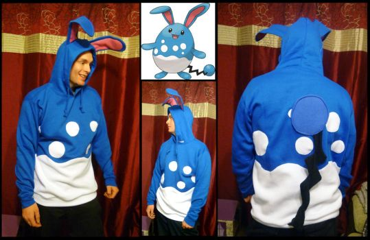 Azumarill hoodie by TrafficConeCreations