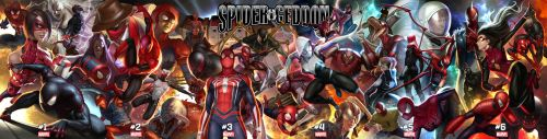Spider-Geddon Connecting Cover by inhyuklee