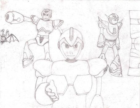 Megaman X: Unlimited Potential Lineart by Bladeninja76