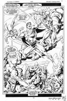 ADVENTURES OF SUPERMAN #494 Pg 18 - Supes vs. JLA by DRHazlewood