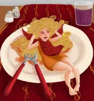There's a girl in my plate by Soozan