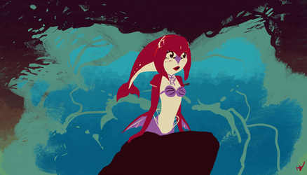 Mipha is a Part of Your World by Toxodentrail