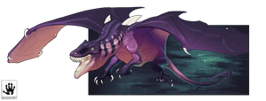 Charging Dragon by DemonML