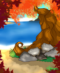 Pemade Background Options: Eversong Shoreline by Musing-Zero
