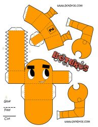 Bot Bros papercraft by AtomicTerrier
