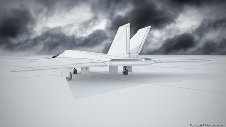 Stealth aircraft - WIP 2 by RatchetHD