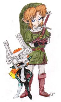 Link and Midna by Nintendo-Nut1
