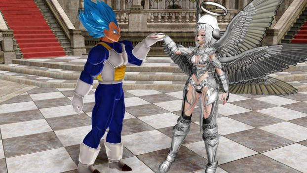 MMD My Silver Angel Pose Download by Entzminger500