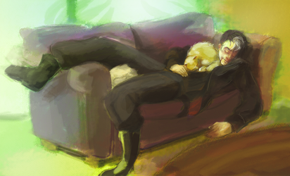 Three Living Things and a Couch by Ayrania-chan