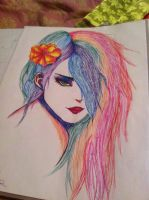 Humanized Rainbow Dash by xXXxNightShadexXXx