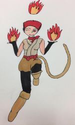 Commission - Fun With a Firey Panther Demoness by traycon300