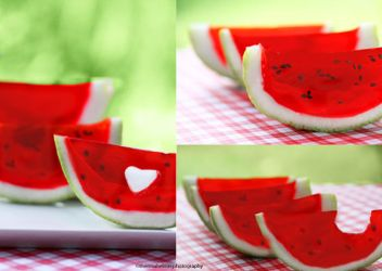 Watermelon Jello by theresahelmer