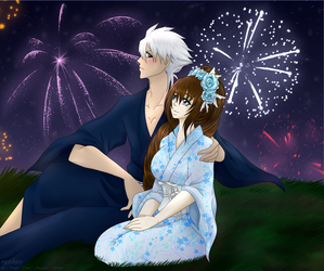 BLEACH: August Fireworks [OC x CANON] by meishiro