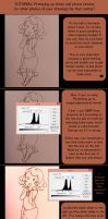Tutorial: How to Pretty up Photographed Drawings by Reiirin